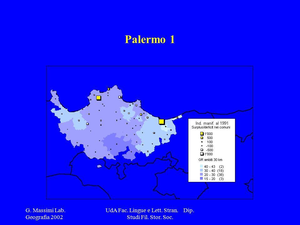 G. Massimi Lab. Geografia 2002 UdA Fac. Lingue e Lett. Stran. Dip. Studi Fil. Stor. Soc. Palermo 1