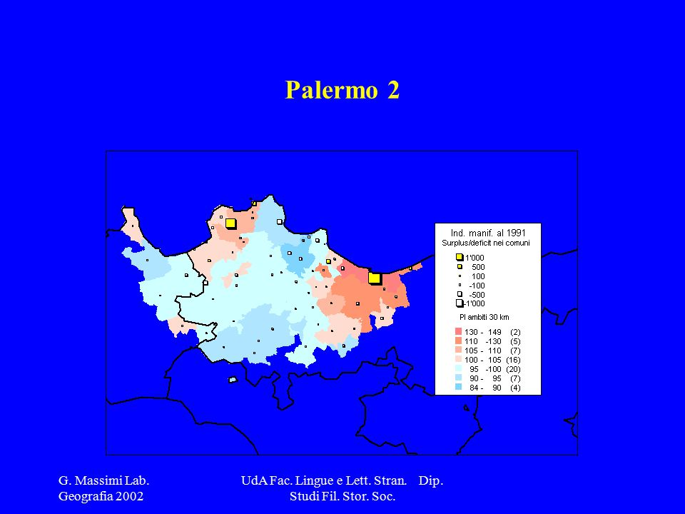 G. Massimi Lab. Geografia 2002 UdA Fac. Lingue e Lett. Stran. Dip. Studi Fil. Stor. Soc. Palermo 2