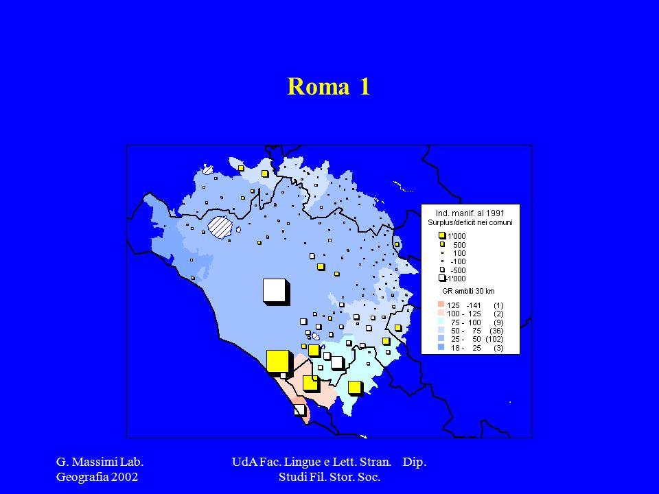 G. Massimi Lab. Geografia 2002 UdA Fac. Lingue e Lett. Stran. Dip. Studi Fil. Stor. Soc. Roma 1