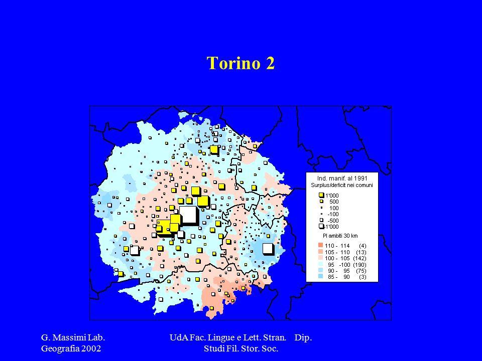 G. Massimi Lab. Geografia 2002 UdA Fac. Lingue e Lett. Stran. Dip. Studi Fil. Stor. Soc. Torino 2