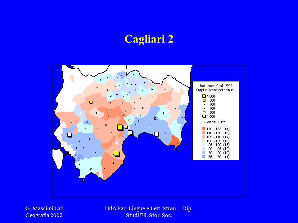 G. Massimi Lab. Geografia 2002 UdA Fac. Lingue e Lett. Stran. Dip. Studi Fil. Stor. Soc. Cagliari 2