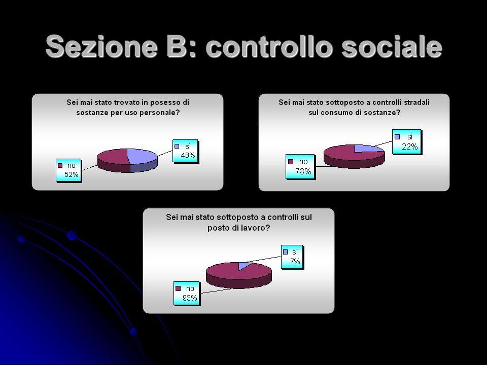 Sezione B: controllo sociale