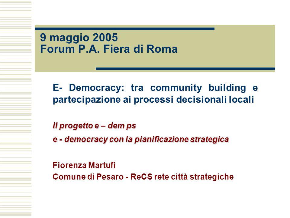 9 maggio 2005 Forum P.A.