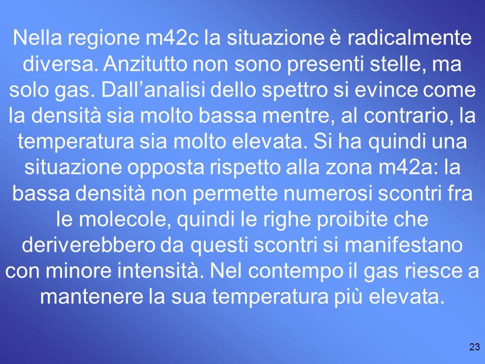 23 Nella regione m42c la situazione è radicalmente diversa.