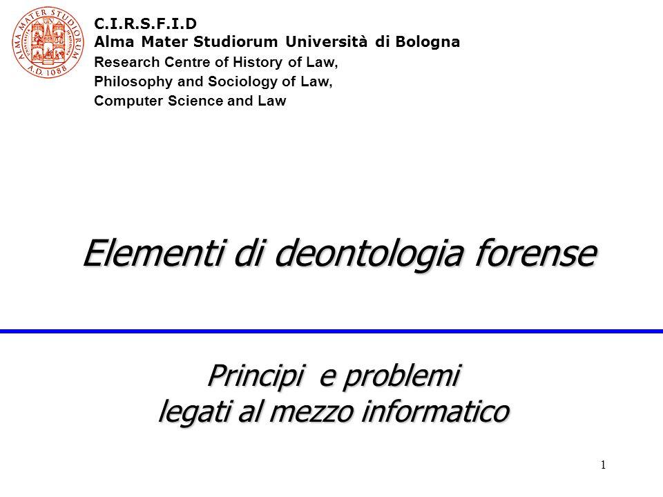 12 Il codice deontologico forense L'informazione è data con l'osservanza delle disposizioni che seguono.