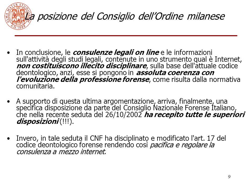 20 Il decreto Bersani 3.