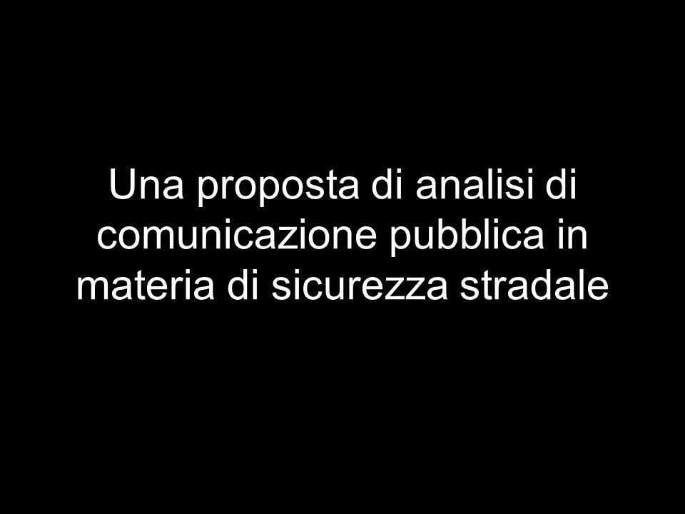 Una proposta di analisi di comunicazione pubblica in materia di sicurezza stradale