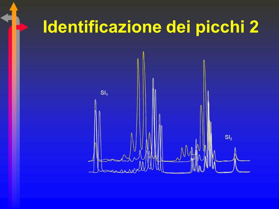 Identificazione dei picchi 2 SI 1 SI 2