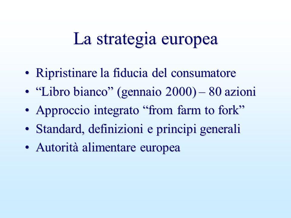 """La strategia europea Ripristinare la fiducia del consumatoreRipristinare la fiducia del consumatore """"Libro bianco"""" (gennaio 2000) – 80 azioni""""Libro bi"""