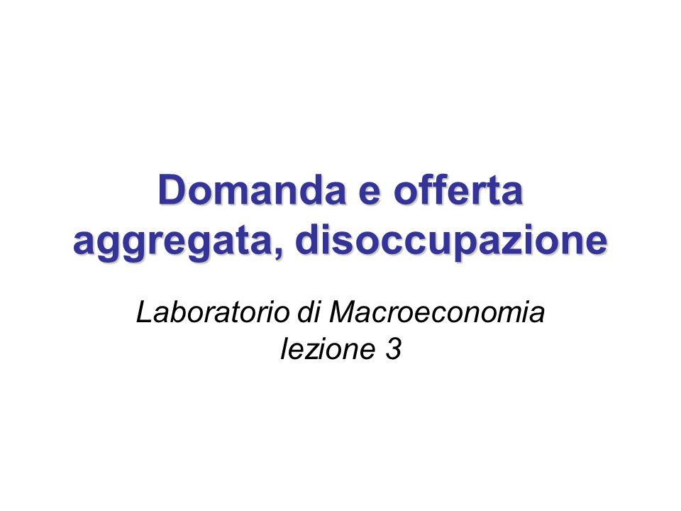 Domanda e offerta aggregata, disoccupazione Laboratorio di Macroeconomia lezione 3