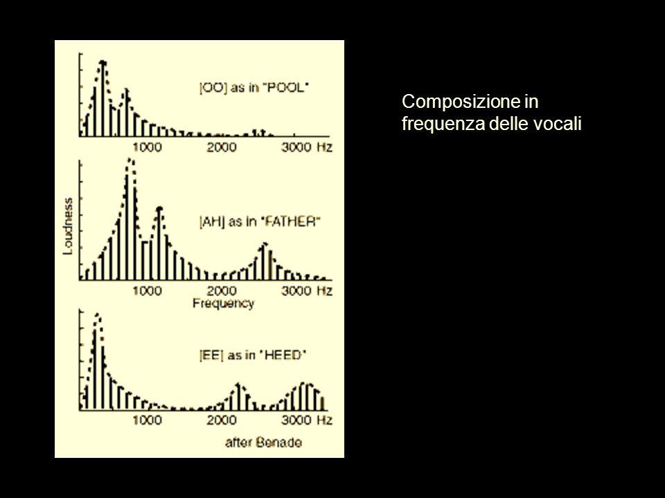 Composizione in frequenza delle vocali