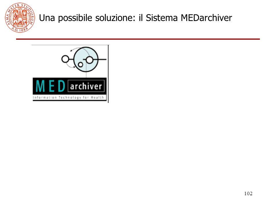 102 Una possibile soluzione: il Sistema MEDarchiver