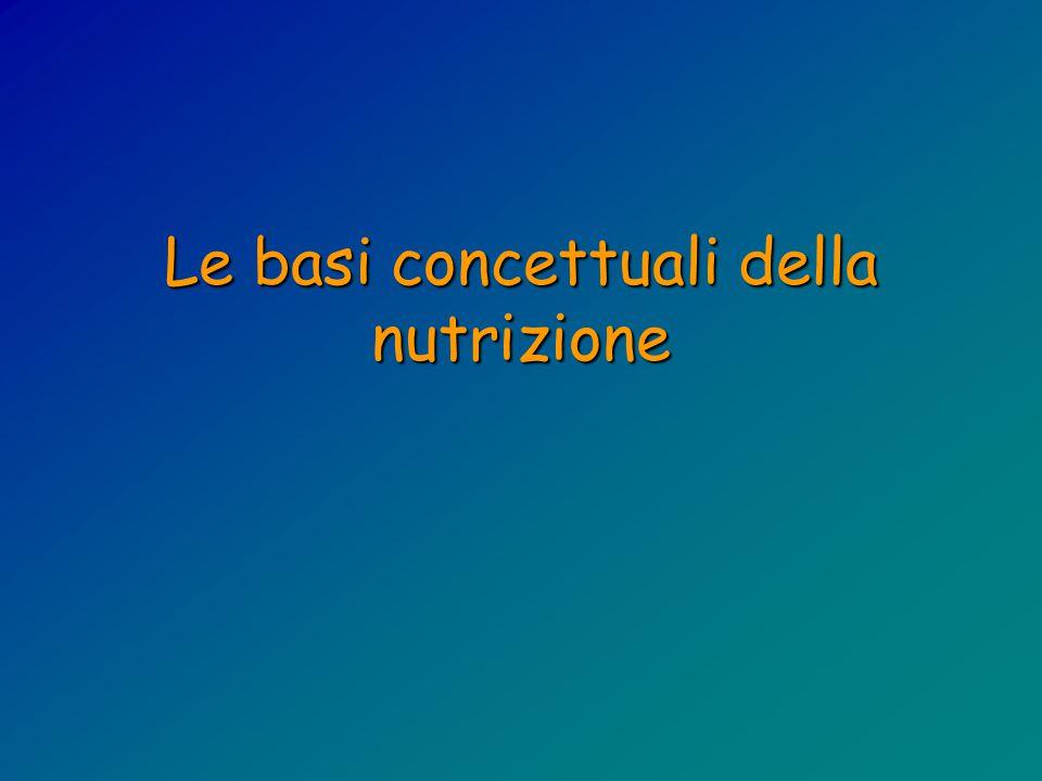 Le basi concettuali della nutrizione