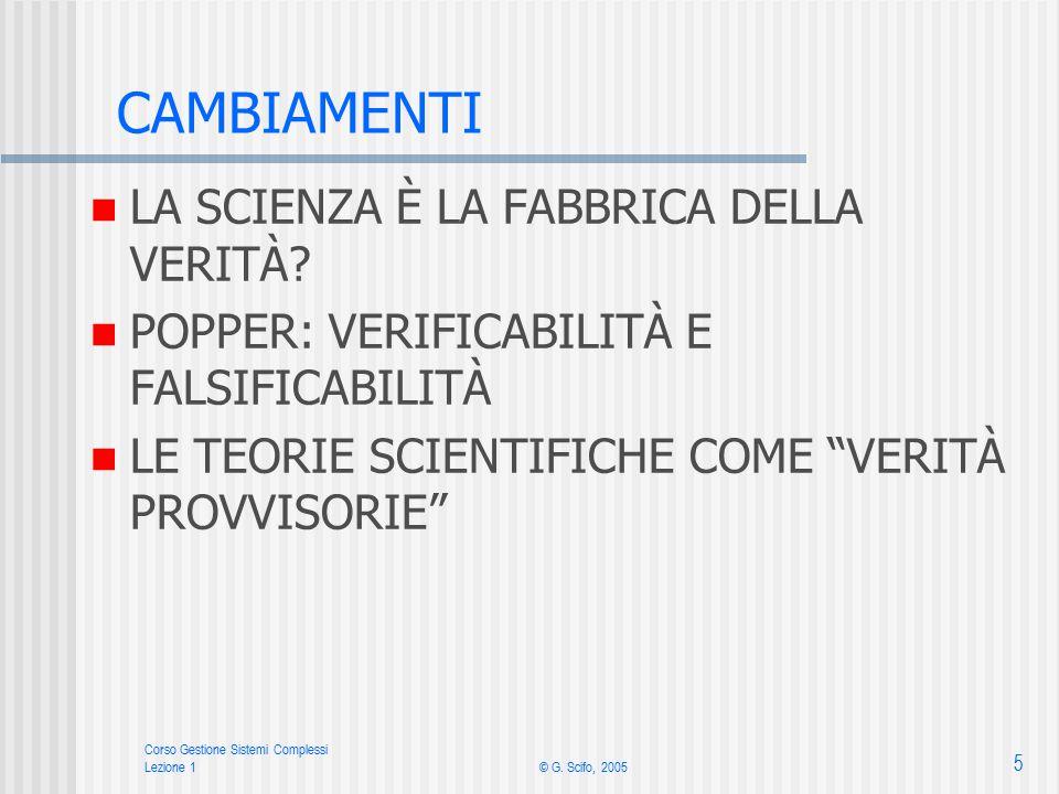 Corso Gestione Sistemi Complessi Lezione 1© G.