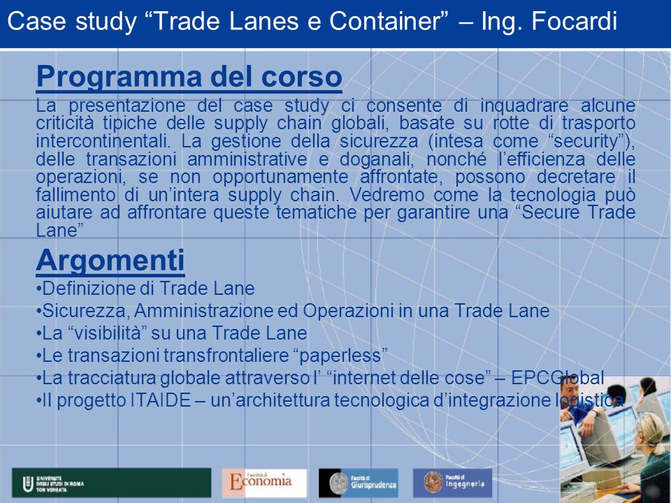 Case study Trade Lanes e Container – Ing.