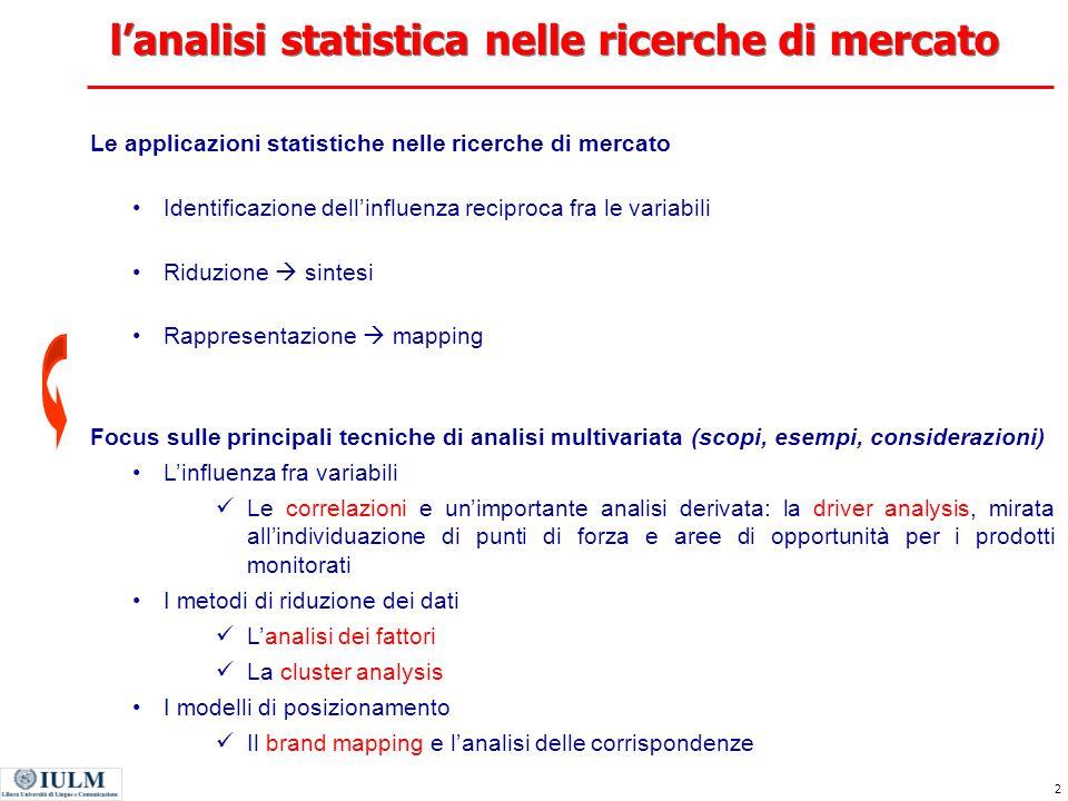 La statistica e le ricerche di mercato