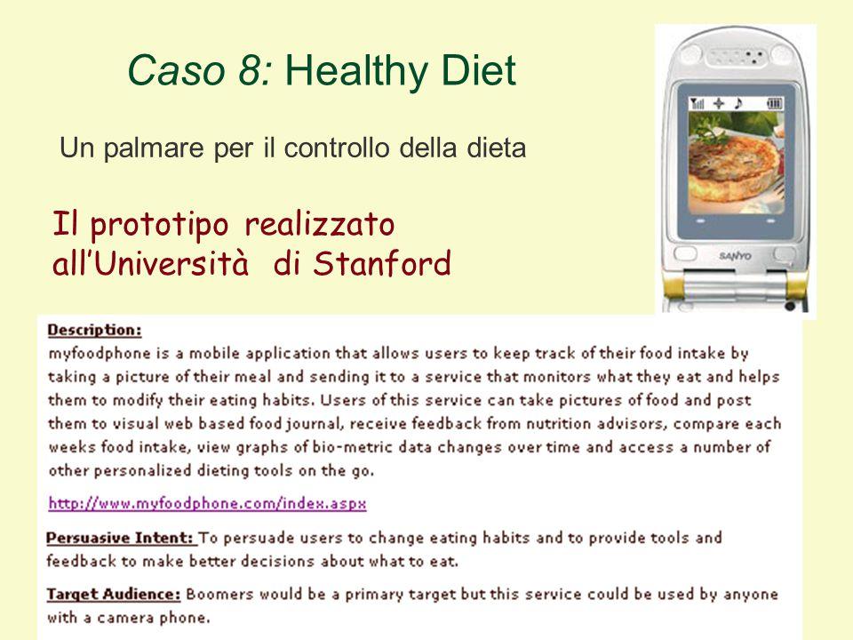 Il prototipo realizzato all'Università di Stanford Caso 8: Healthy Diet Un palmare per il controllo della dieta