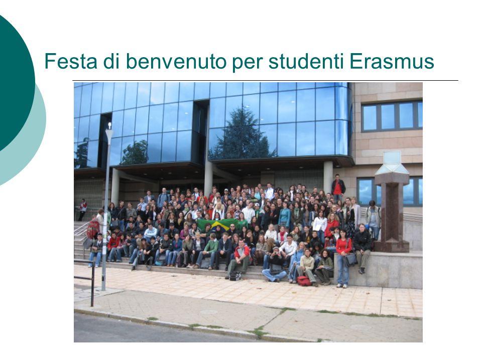 Festa di benvenuto per studenti Erasmus