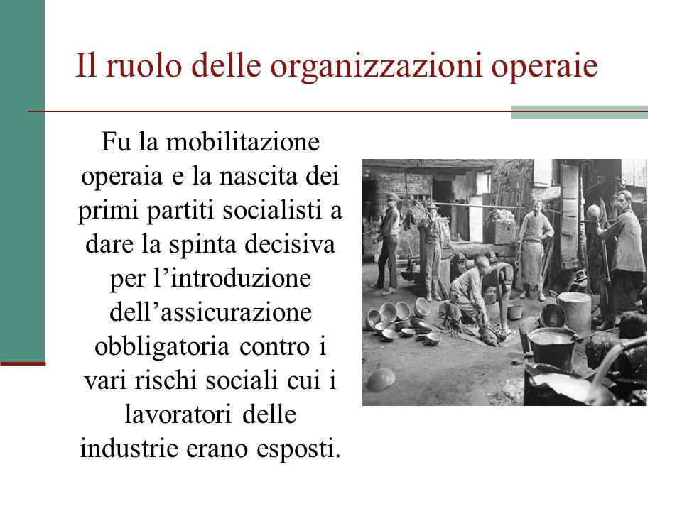 Il ruolo delle organizzazioni operaie Fu la mobilitazione operaia e la nascita dei primi partiti socialisti a dare la spinta decisiva per l'introduzio