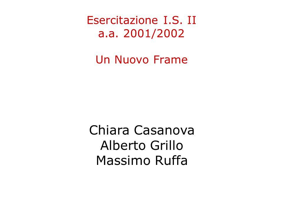 Esercitazione I.S. II a.a. 2001/2002 Un Nuovo Frame Chiara Casanova Alberto Grillo Massimo Ruffa