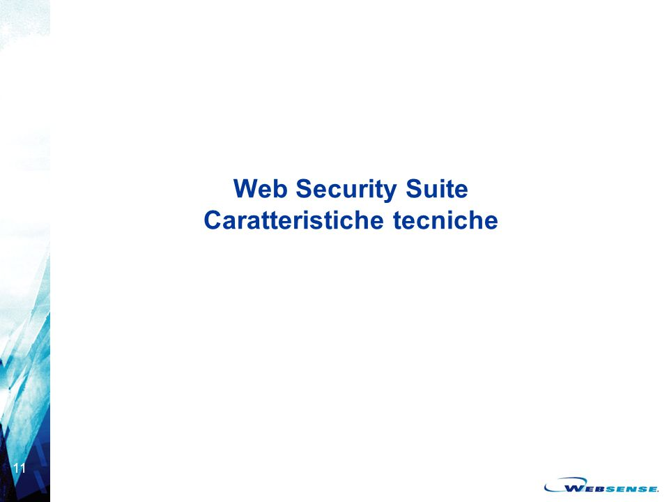 11 Web Security Suite Caratteristiche tecniche