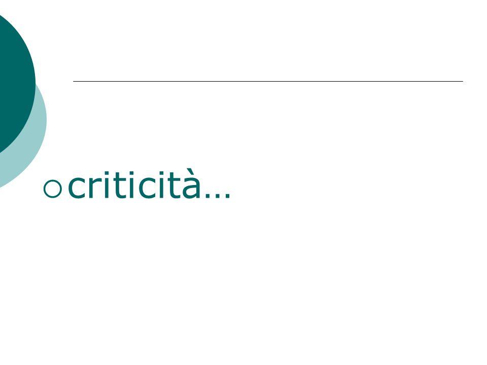  criticità…