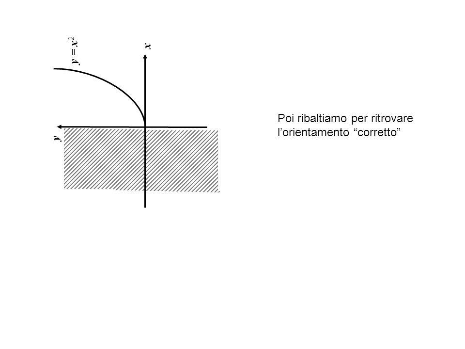 x y = x 2 y Poi ribaltiamo per ritrovare l'orientamento corretto