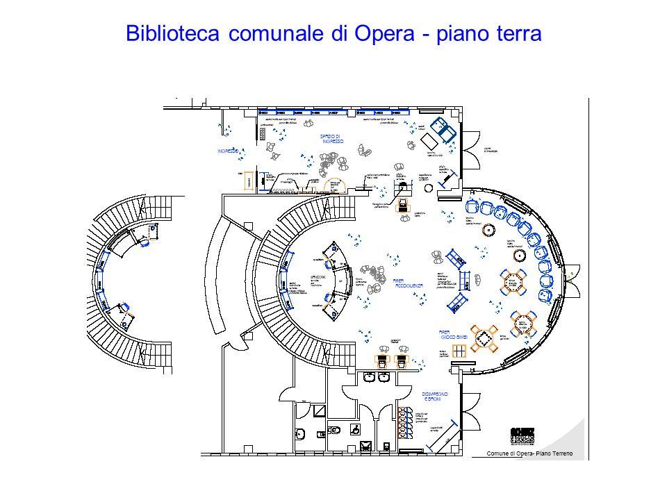 Biblioteca comunale di Opera - piano terra