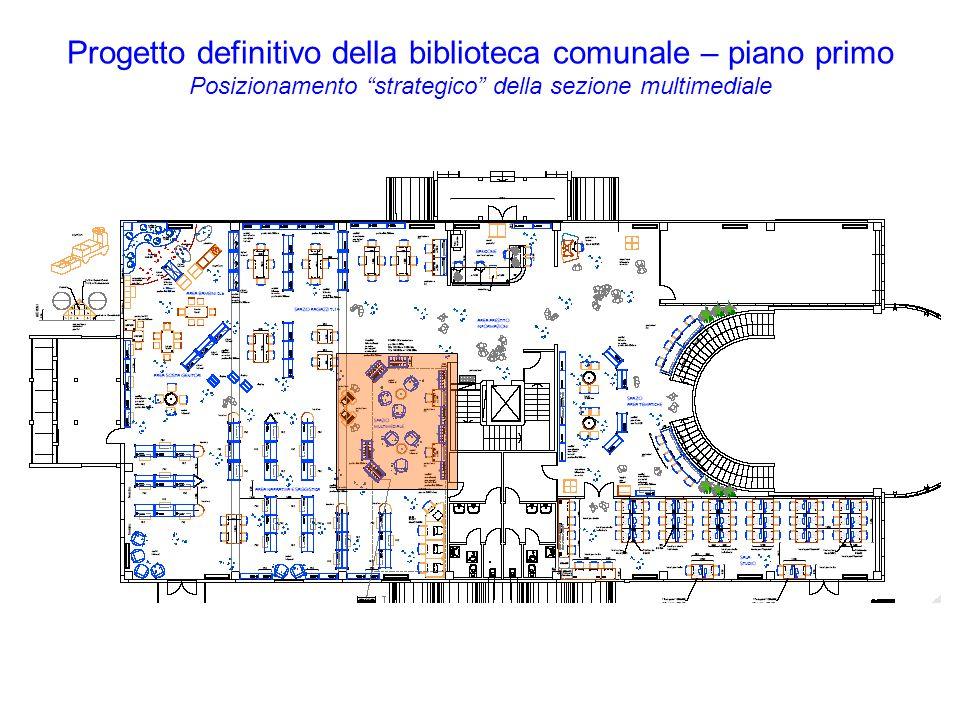 Progetto definitivo della biblioteca comunale – piano primo Posizionamento strategico della sezione multimediale