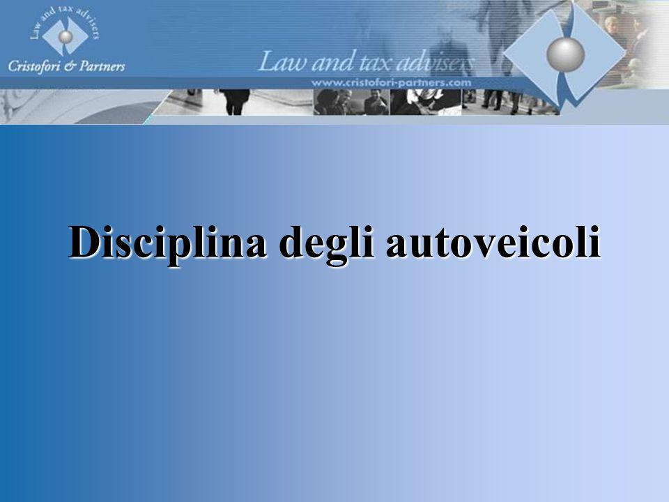 Disciplina degli autoveicoli