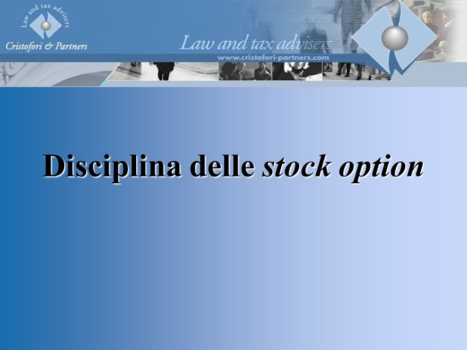 Disciplina delle stock option