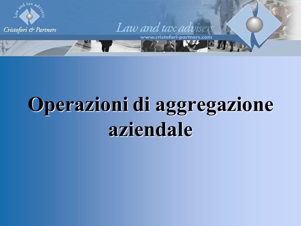 Operazioni di aggregazione aziendale