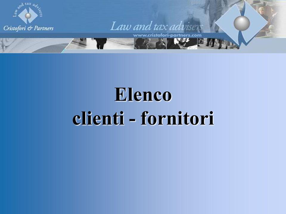 Elenco clienti - fornitori