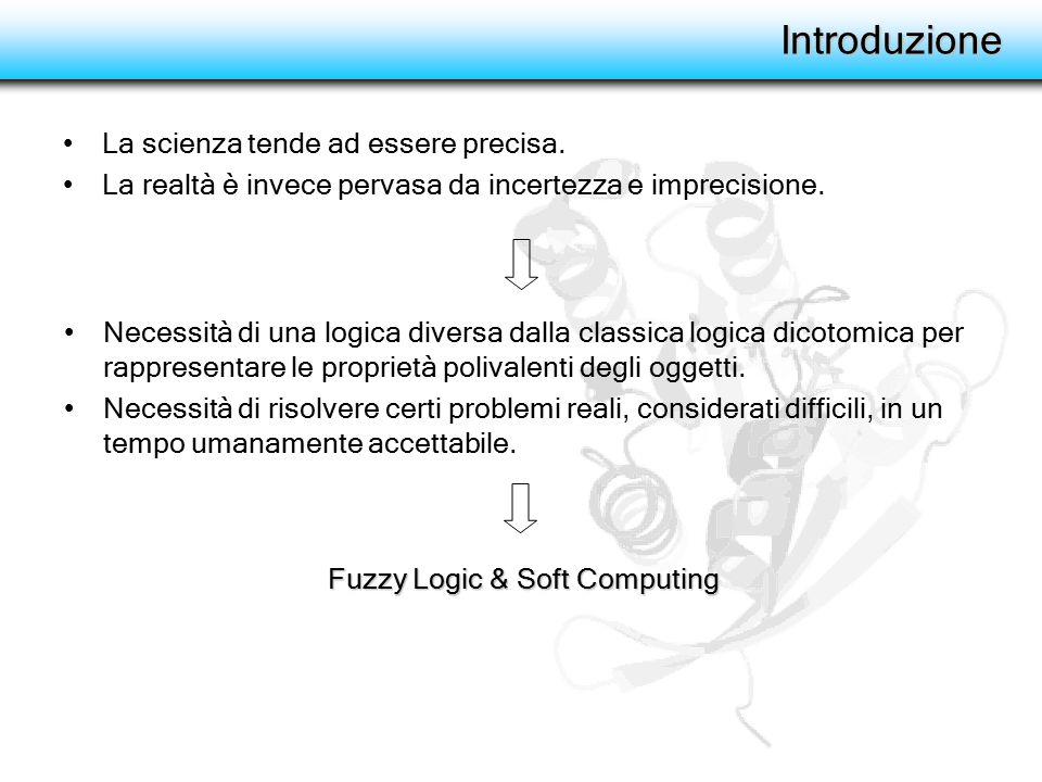 Soft Computing Neurocomputing Evolutionary computation Fuzzy logic Probability reasoning Strumenti in grado di trattare con l'imprecisione e l'incertezza dei problemi reali, in grado di individuare soluzioni robuste ed a basso costo. (fonte: Soft Computing and Fuzzy Logic, Zadeh 1994)