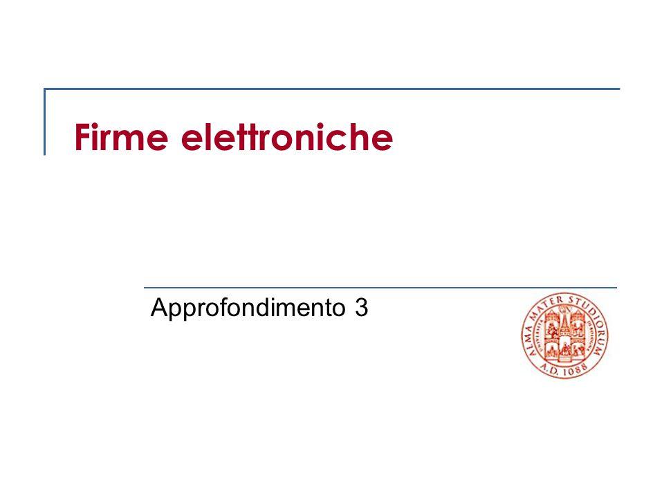 2 © Palmirani Corso di Informatica Giuridica Traccia Aspetti tecnologici delle firme elettroniche Aspetti giuridici delle firme elettroniche