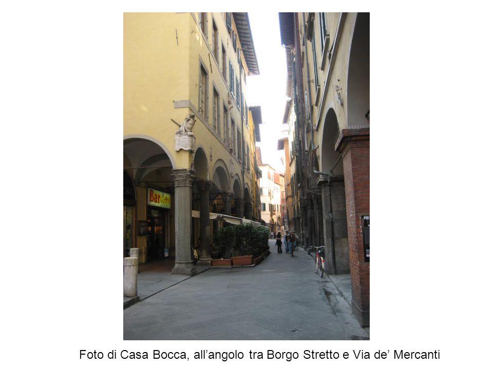 Foto di Casa Bocca, all'angolo tra Borgo Stretto e Via de' Mercanti
