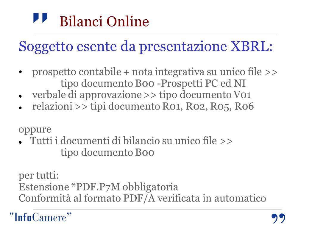 Soggetto esente da presentazione XBRL: prospetto contabile + nota integrativa su unico file >> tipo documento B00 -Prospetti PC ed NI verbale di appro