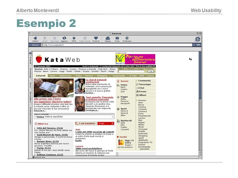 Alberto MonteverdiWeb Usability Esempio 2