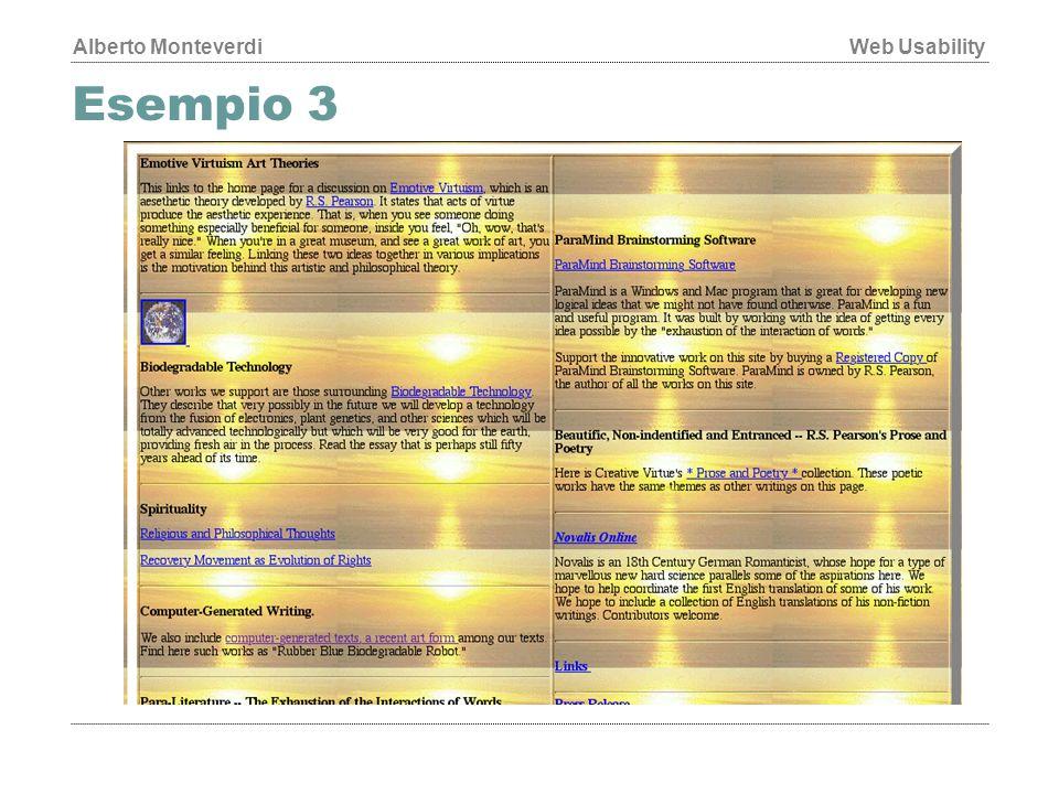 Alberto MonteverdiWeb Usability Esempio 3