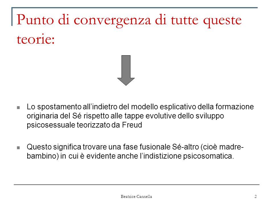 Beatrice Cannella 2 Punto di convergenza di tutte queste teorie: Lo spostamento all'indietro del modello esplicativo della formazione originaria del S