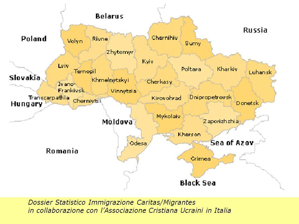 Dossier Statistico Immigrazione Caritas/Migrantes in collaborazione con l'Associazione Cristiana Ucraini in Italia