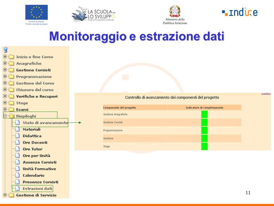 11 Monitoraggio e estrazione dati