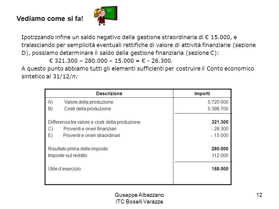 Guseppe Albezzano ITC Boselli Varazze 12 Vediamo come si fa.