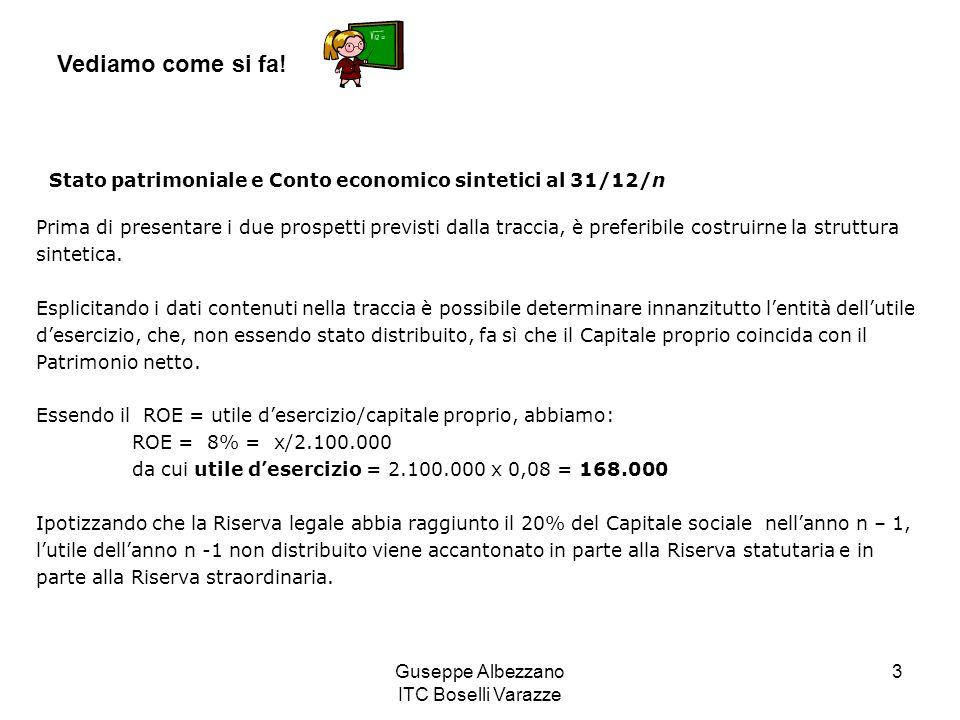 Guseppe Albezzano ITC Boselli Varazze 3 Vediamo come si fa.