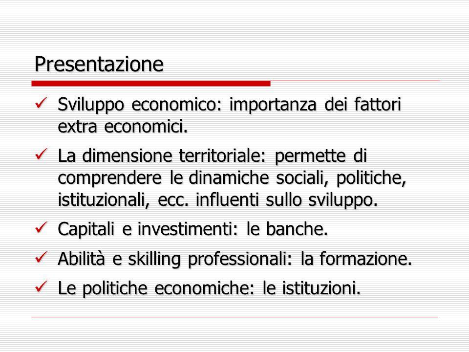 Presentazione Sviluppo economico: importanza dei fattori extra economici. Sviluppo economico: importanza dei fattori extra economici. La dimensione te
