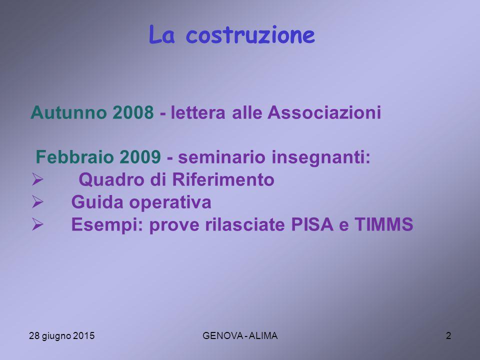 33 Confronto con standard esterni: un esempio Punteggi in Italiano e in Matematica in III Media ITALIANOMATEMATICA Lim.