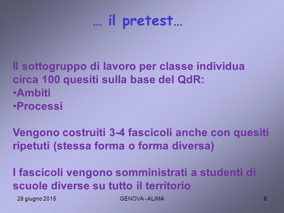 37 L'andamento negli ambiti di contenuto In PISA 2006 le aree di sofferenza degli studenti italiano erano: INCERTEZZA e CAMBIAMENTI Possiamo concludere che non ci sono più problemi in quegli ambiti o potrebbe dipendere da domande di difficoltà diversa per ambito.