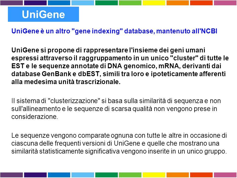 UniGene è un altro