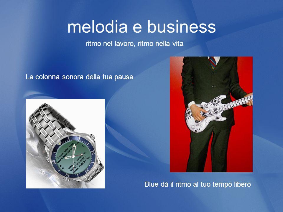 melodia e business La colonna sonora della tua pausa Blue dà il ritmo al tuo tempo libero ritmo nel lavoro, ritmo nella vita