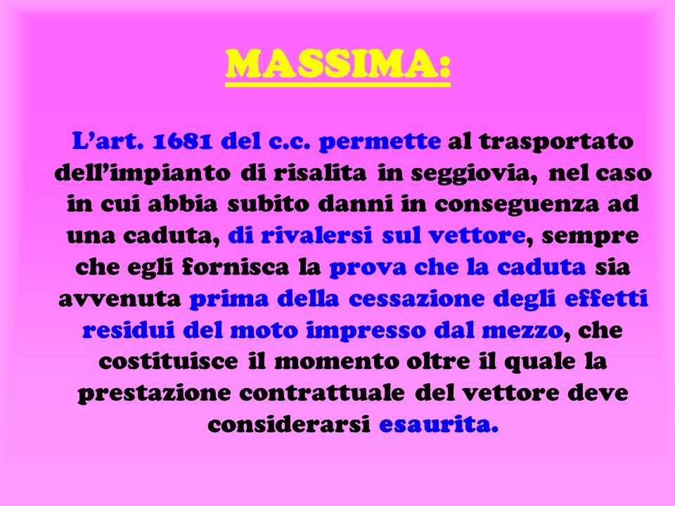 MASSIMA: L'art.1681 del c.c.